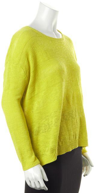 JOIE Green Yellowish Linen Knit Top