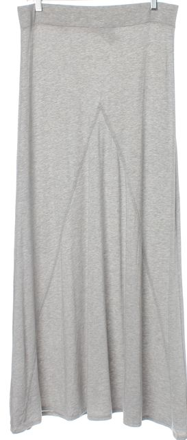 JOIE Gray Jersey Knit Full Length Relaxed Fit Straight Skirt