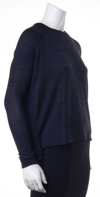 JOIE Blue Black Long Sleeve Knit Top