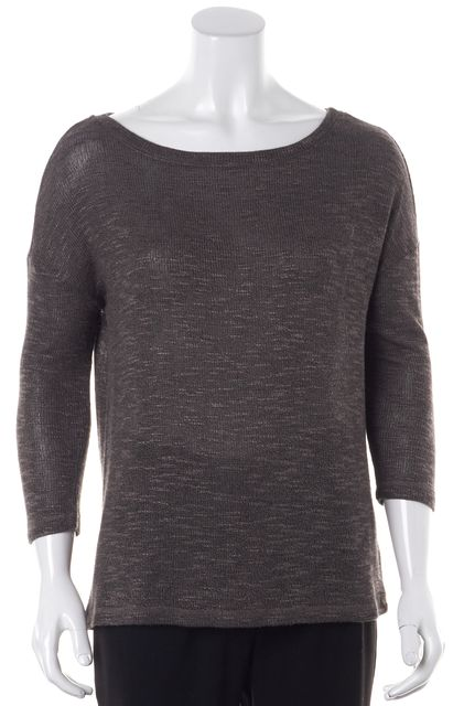 JOIE Gray 3/4 Sleeve Relaxed Fit Soft Knit Top