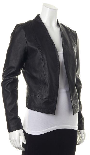 JOIE Black Lamb Leather Open Basic Jacket