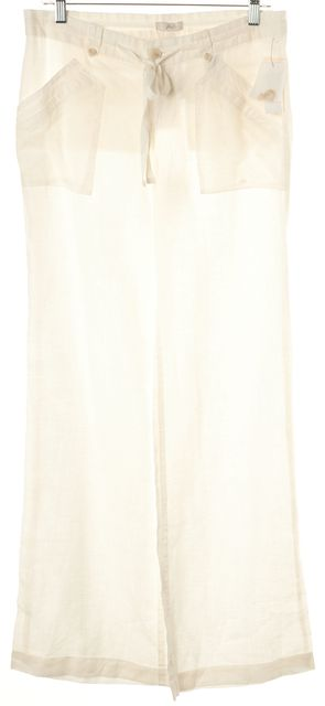 JOIE White Porcelain Rome Linen Relaxed Casual Pants