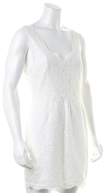 JOIE White Lace Empire Waist Dress