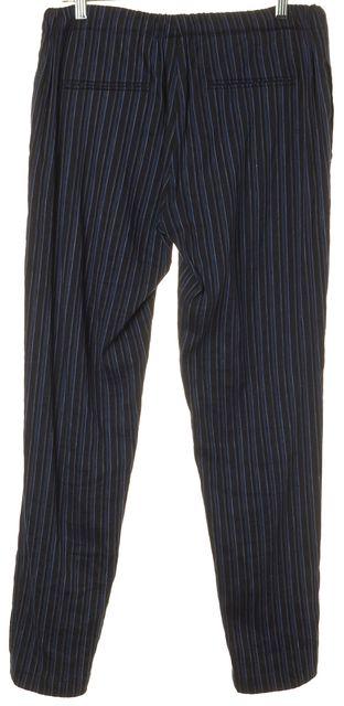 JOIE Blue Linen Striped Pants