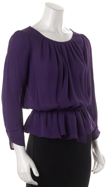 JOIE Purple Silk Blouse Top