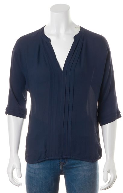 JOIE Navy Blue Silk Blouse
