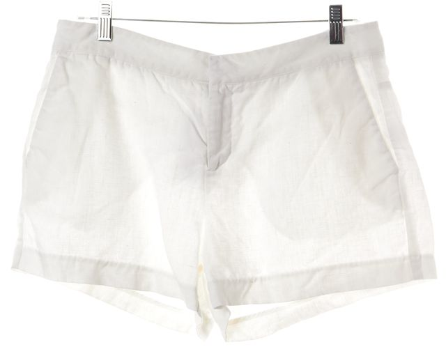 JOIE White 100% Linen Casual Shorts