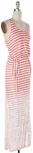 JOIE Pink White Ombre Striped Sleeveless Racerback Maxi Dress