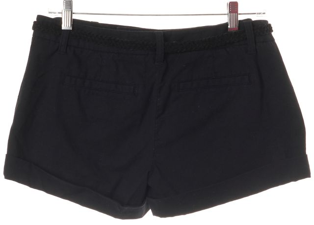 JOIE Blue Belted Cotton Blend Cuffed Casual Shorts