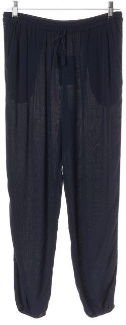 JOIE Blue Elastic Drawstring Waist 100% Viscose Jogger Pants