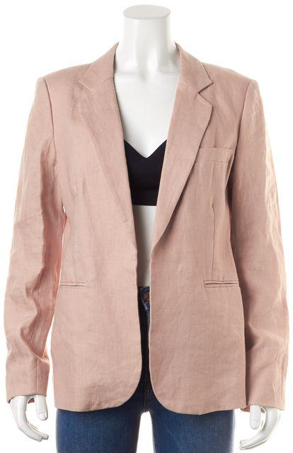 JOIE Dusty Pink Linen Pocket Front Open Blazer