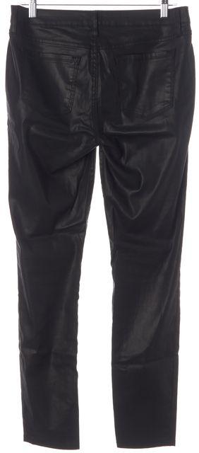 JOIE Black Coated Skinny Casual Pants