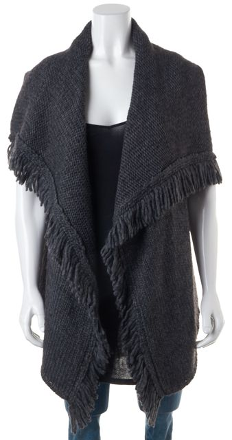 JOIE Gray Wool Knit Top Vest