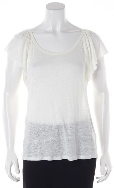 JOIE White Linen Blouse Top