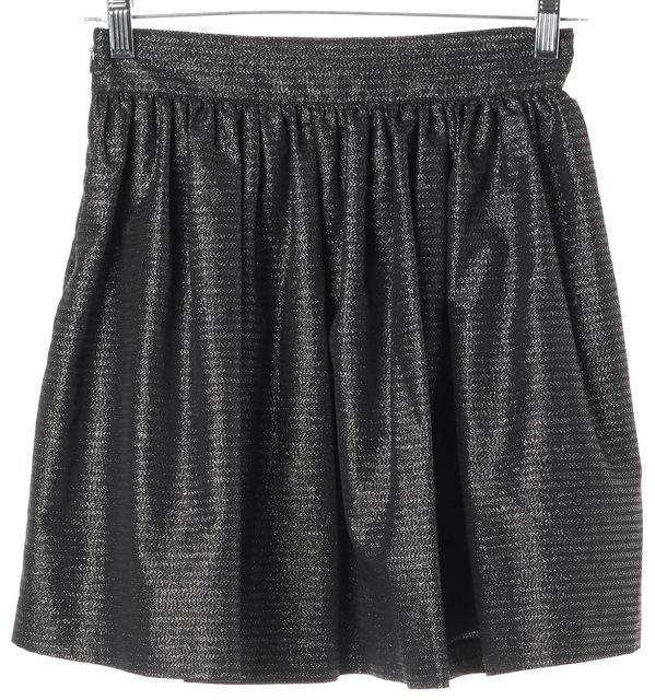 JOIE Gray Metallic A-Line Skirt