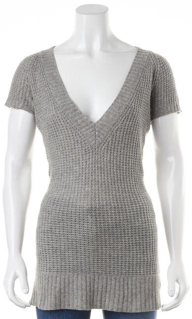 JOIE Gray Wool V-Neck Knit Sweater