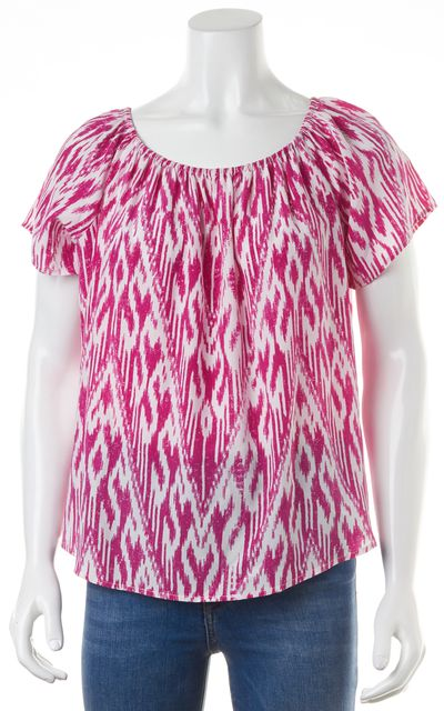 JOIE Pink Silk Boat Neck Blouse Top