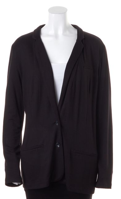 JOIE Black Long Sleeve Basic Rayon Blend Jacket