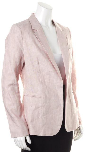 JOIE Pink Linen Open Blazer Jacket