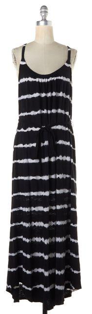 JOIE Black White Tie Dye Cotton Racerback Maxi Blouson Dress