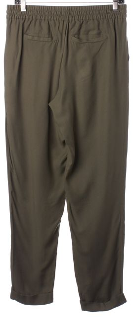 JOIE Army Green Drawstring Cuffed Casual Pants