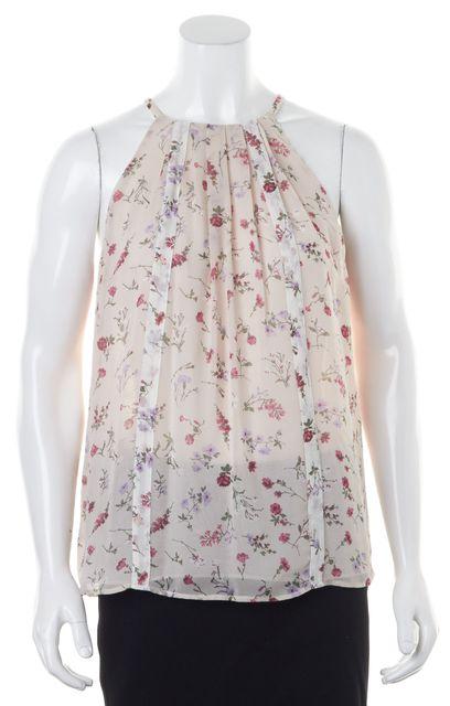 JOIE Petal Porcelain Pink Floral Silk Hawn Blouse Top