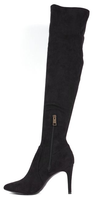 JOIE Black Suede Pointed Toe Heeled Jemina B Over-The-Knee Boots