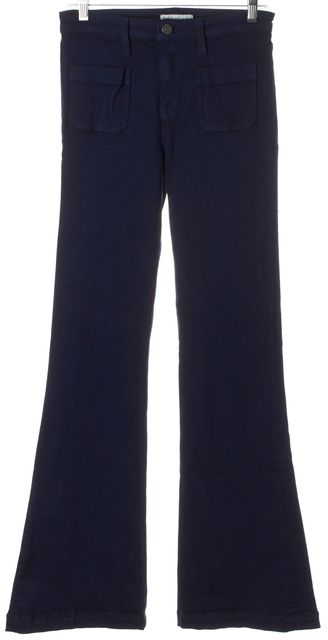 JOIE Dark Navy Blue Stretch Mid-Rise Enchante Flare Jeans