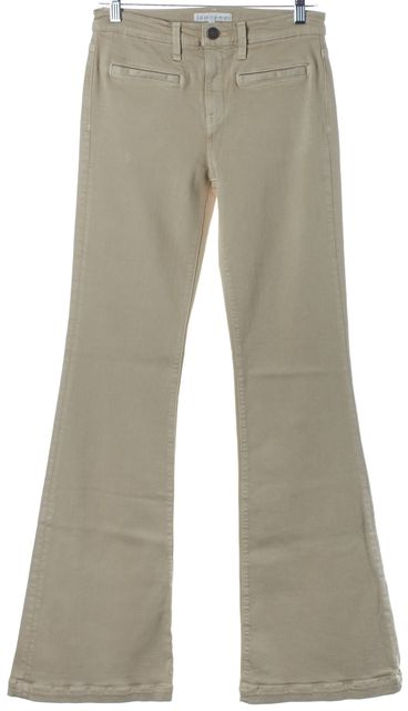JOIE Tan Beige Flare Bottom Mid-Rise Jeans
