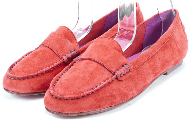 JOIE Salmon Pink Suede Leather Loafers Flats