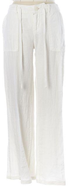 JOIE White Porcelain Linen Drawstring Waist Maretta Casual Pants