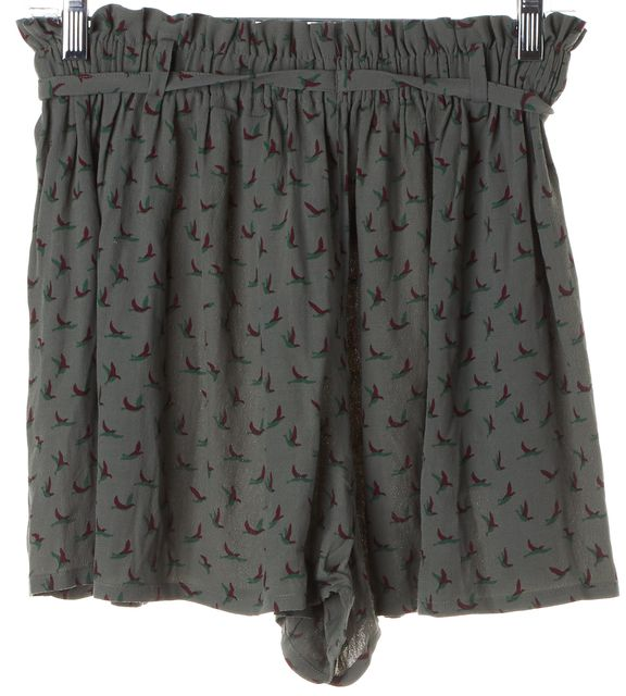 JOIE Green Floral Casual Shorts