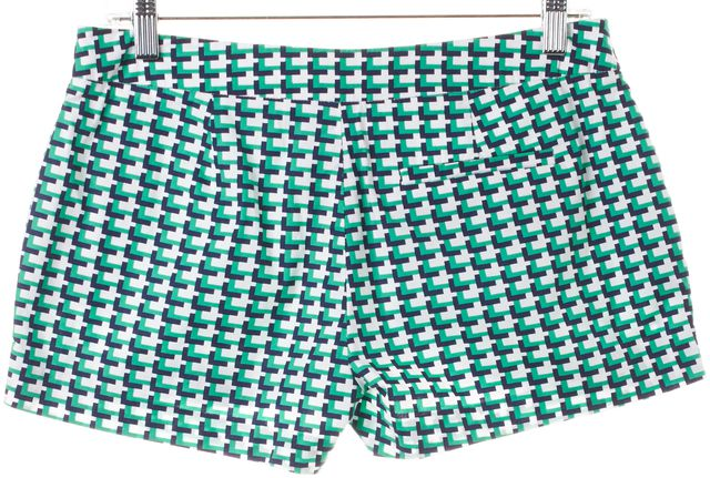 JOIE Green Navy Blue White Geometric Casual Short Shorts