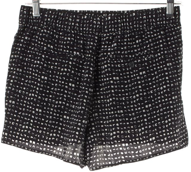 JOIE Black White Faded Spot Print Silk Casual Shorts