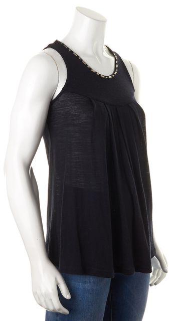 JOIE Black Jewel Embellished Crewneck Sleeveless Knit Top