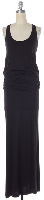 JOIE Black Cotton Modal Sleeveless Racerback Maxi Tank Dress