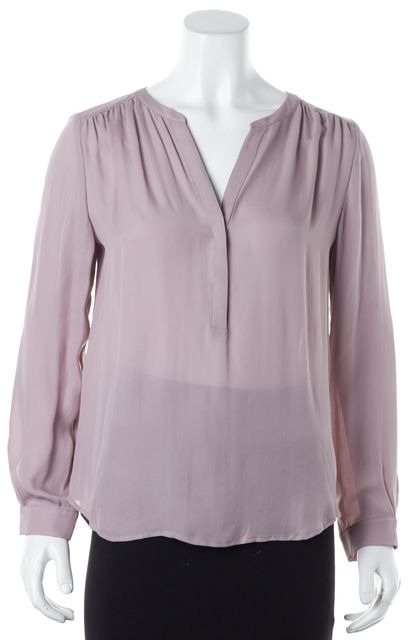 JOIE Orchid Purple Silk Long Sleeve Sheer Carita Blouse