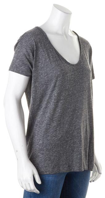 JOIE Heather Gray Short Sleeve Scoop Neck Basic T-Shirt