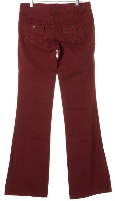 JOIE Cranberry Red Cotton Smokescreen Flare Jeans