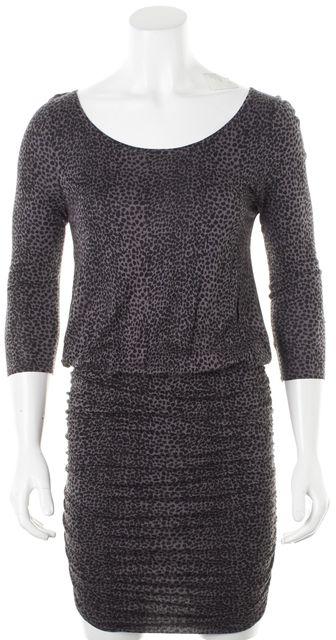 JOIE Purple Black Animal Print Rera Stretch Dress
