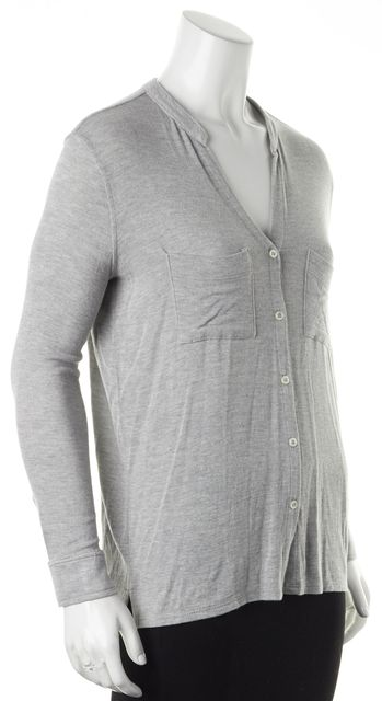 JOIE Heather Gray Light Fowler Button Down Cardigan