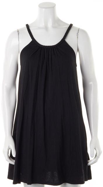 JOIE Black Cotton Modal Jersey Sleeveless Mini Shift Dress