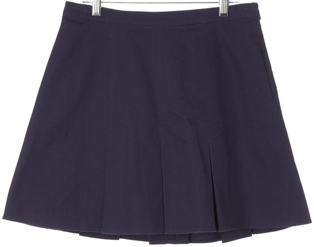 JOIE Dark Navy Blue Corine Pleated A-Line Skirt
