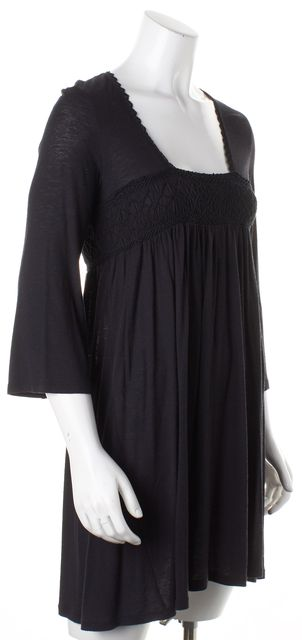JOIE Black Rayon Empire Waist Blouse