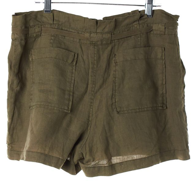 JOIE Army Green Linen Casual Shorts