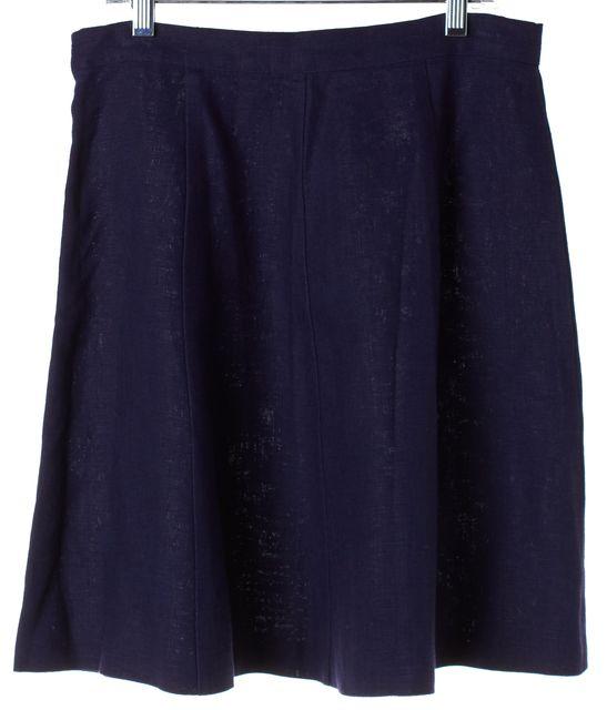JOIE Navy Blue Linen Above Knee A-Line Skirt