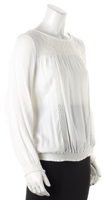 JOIE Ivory Lace Detail Blouse Top