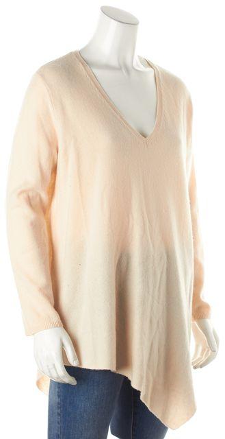JOIE Beige Wool V-Neck Sweater