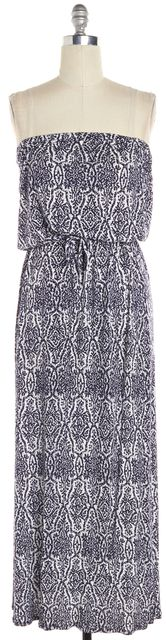 JOIE Blue Abstract Maxi Dress