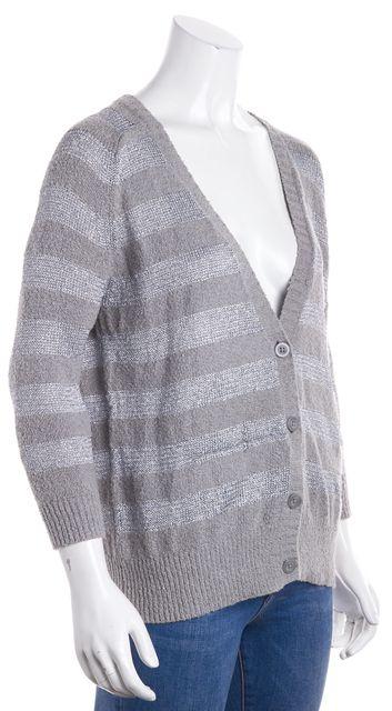 JOIE Gray Striped Cardigan